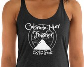 Colorado 14er Finisher - Women's Racerback Tank Top / Mountaineer / 58/58 peaks / 14,000 ft mountain / CO / girl climber / gym shirt
