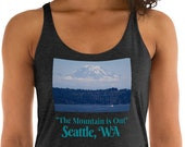 Seattle, Washington / Mount Rainier - Women's Racerback Tank / Hometown / Vanlife / Souvenir