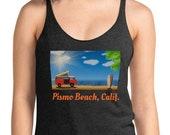 Pismo Beach California Tank Top Racerback / Womens Beach Shirt / Camping / VW Bus / VanLife / Surfing
