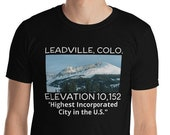 Leadville Colorado T-Shirt / Mountains / Highest Elevation City / Mens Tee