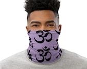 Chakra Sanskrit Face Mask / Neck Gaiter / Ski Buff / unisex for women or men - Yogi / Yoga / Crown / 7th / Om / Hindu / Buddhist / New Age
