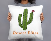 Desert Vibes Decorative Accent Pillow / Vanlife / Camping / Outdoorsy / Cactus
