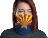 Arizona Face Mask / Neck Gaiter / AZ State Flag / Unisex for men or women