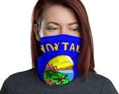 Unisex Montana Face Mask / Neck Gaiter / MT State Flag / for men or women