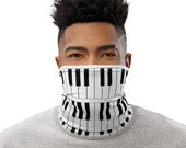 Piano Face Mask / Neck Gaiter / Buff - unisex for men and women / Pianist / Music / Composer / Keyboard / Keys /