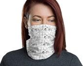 Face Mask / Van Print / Sprinter - Neck Gaiter / Ski Buff -- unisex for men or women / Vanlife