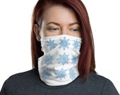 Snowflake Neck Gaiter - unisex for men or women - Snow Winter Holiday Face Mask
