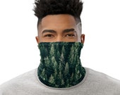 Trees from Aerial View Face Mask / Neck Gaiter / Buff - unisex for women or men - Forest / Nature / Wilderness /