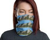 Boulder Colorado Flatirons Face Mask / Neck Gaiter / Ski Buff - unisex for men or women / Mountains / Chautauqua