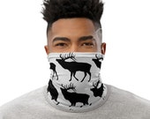 Elk Print Face Mask / Neck Gaiter / Buff - unisex for women and men - Wildlife / Hunting / Colorado / Wyoming / Mountains / High Country