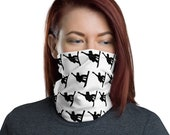 Snowboarder Print Face Mask / Neck Gaiter / Ski Buff - unisex for men and women / Snowboard / Slopes / Colorado