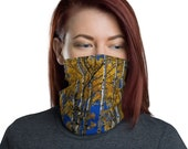 Aspen Trees in Autumn / Colorado Face Mask / Neck Gaiter / Ski Buff / Unisex / men and women / Fall Leaves