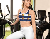 Padded Sports Bra - Colorado State Flag / Workout / Gym / Running