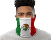 Mexico Flag Face Mask / Neck Gaiter / Buff - unisex for men and women / Mexican /