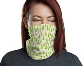 Christmas Tree Neck Gaiter - Holiday Face Mask - unisex for men or women