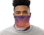 Mountain Sunset with Road Face Mask / Neck Gaiter / Buff - unisex for men and women / Travel / Wanderlust / VanLife / Outdoors / Nature