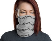 Mountains Face Mask / Neck Gaiter / Ski Buff - unisex for men and women / Outdoor / Mountain / Peaks