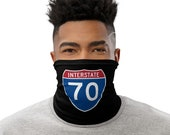 I-70 Face Mask / Neck Gaiter / Buff - Colorado Interstate Highway / Trucker / Mountain Road / Moab or Bust - unisex for men or women