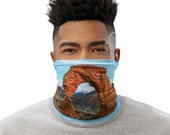Delicate Arch Face Mask / Neck Gaiter / Ski Buff - unisex for men and women / Moab / Arches / Utah / Hiking