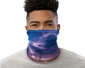 Lightning Storm Face Mask / Neck Gaiter / Buff - unisex for men or women - Thunderstorm / Clouds / Storms / Force of Nature