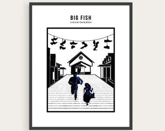 Big Fish, Tim Burton, Minimal Movie Poster.