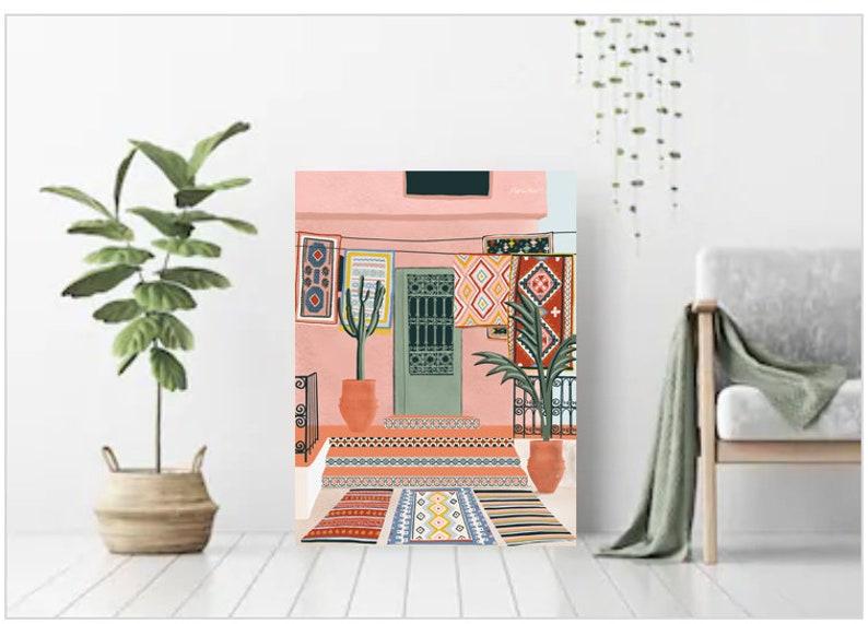 Moroccan Terrace House illustrationMinimalist Architecture image 0