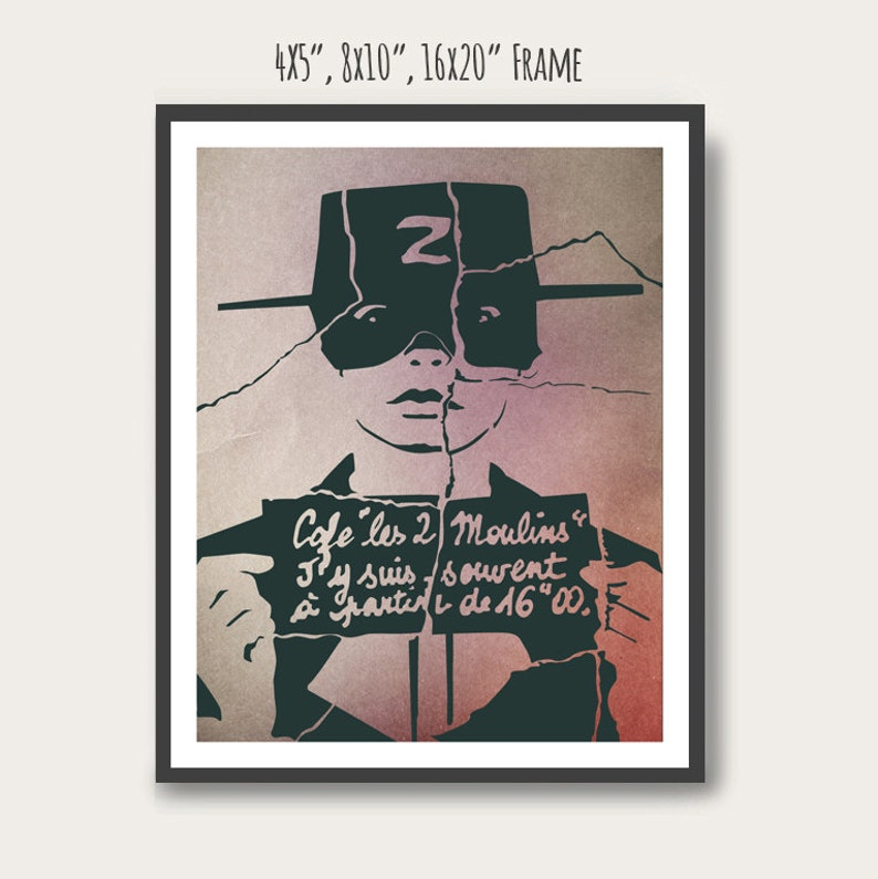 NEW Amélie Audrey Tautou Minimal Movie Poster. image 0