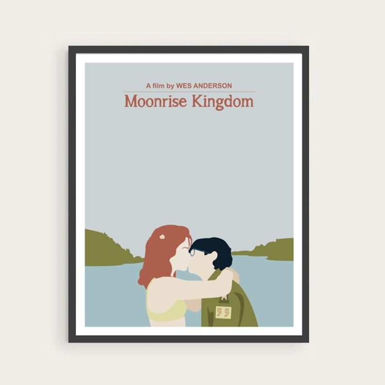 MOONRISE KINGDOM Suzy & Sam Wes Anderson Movie Poster Art. image 0