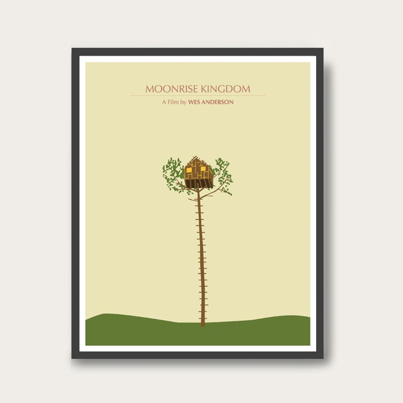 NEW Moonrise Kingdom Wes Anderson Minimal Movie Poster. image 0