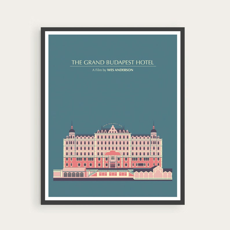 8c423058081 The Grand Budapest Hotel Wes Anderson Minimal Movie Poster.