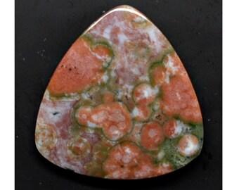 Ocean Jasper 29.36 ct trillion cabochon 30.0 x 29.8 mm y30580 Pink Green Gemstone Cab Loose Gem Stone Smooth