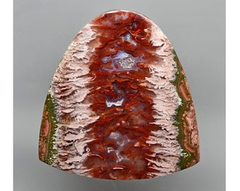 Cady Mountain Sicat Plume Agate Handmade Collector Cabochon