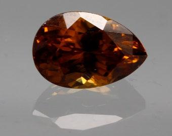 Wedding Anniversary Easter Gift 1.67 Cts Natural Zircon Top Luster Round Shape Transparent Orange Form Sri Lanka Birthday Gift