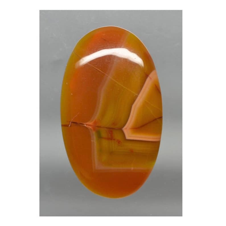 Condor Agate 30.90 ct Oval Cabochon 34.8 x 20.4 mm Argentina y32310 Red and Orange Gemstone Smooth Cab Loose Gem Stone