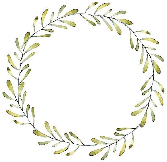 photo relating to Wreath Printable known as Greenery Printable Wreath Printable Watercolor Wreath Minimalist Wreath Foliage Clipart Leafy Body