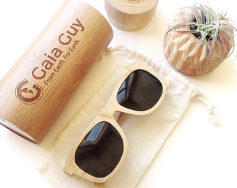 4e6615db2b489 Bamboo Sunglasses and Case