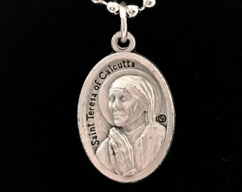 St Teresa Medal Necklace