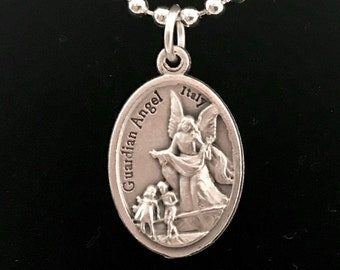 Guardian Angel Medal Necklace
