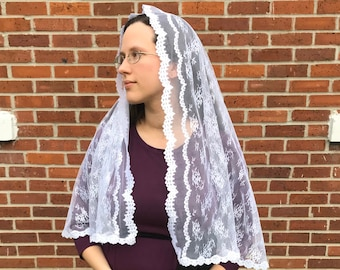 Large White Chapel Veil - Perfect for First Communion Veil or Bridal Veil