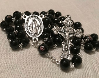 Black and Rose Chaplet for the Dead