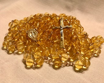 Citrine Fifteen Decade Rosary
