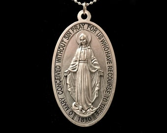 Giant Miraculous Medal - Necklace or Wall Hanging