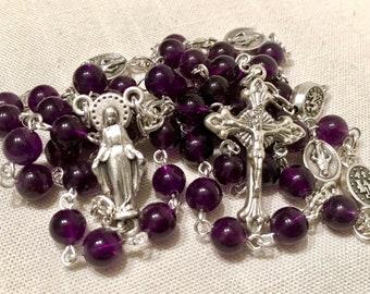Marian Amethyst Rosary