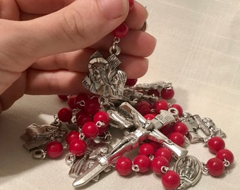 Red Stations of the Cross Chaplet