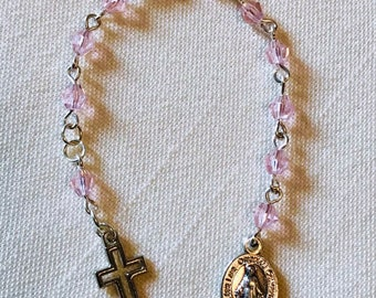 Pink Pocket Rosary - Miraculous Medal Decade Rosary