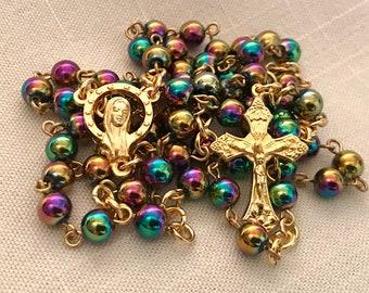 Iridescent Hemalyke Rainbow Rosary
