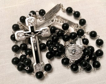 Black Onyx Rosary with Mysteries