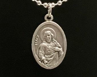 Sacred Heart of Jesus Medal Necklace