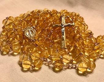 Citrine Fifteen Decade Rosary