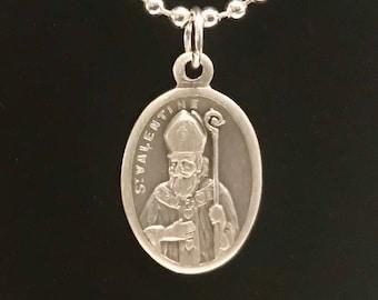 St Valentine Medal Necklace